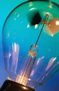 Die Glühbirne ist oft Zeichen von Ideenreichtum