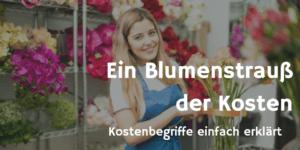 Ein Blumenstrauß der Kosten