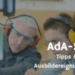 Tipps zum AdA-Schein - Die Handlungsfelder