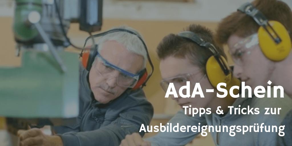 Ada-Schein Ausbildereigungsprüfung