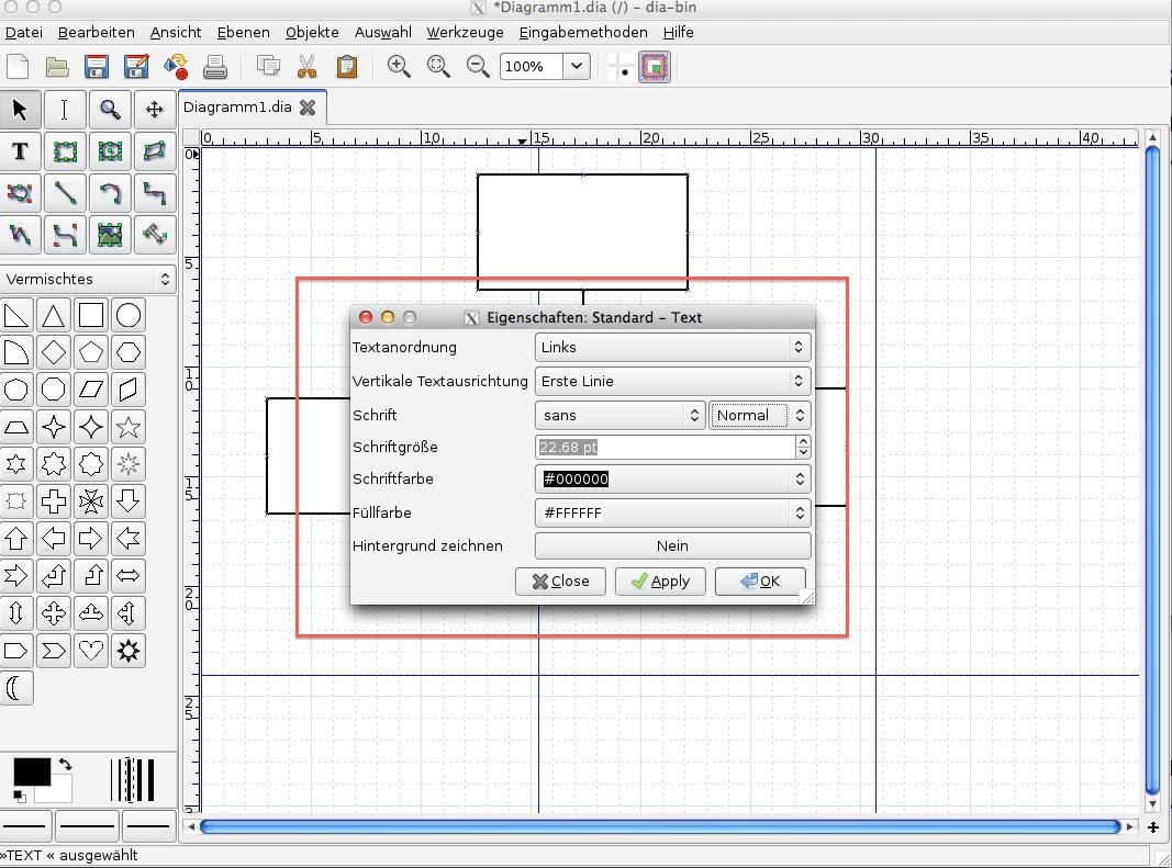 Abbildung 11, Dia Text formatieren