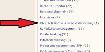 So finden Sie den Artikel Kaizen & KVP