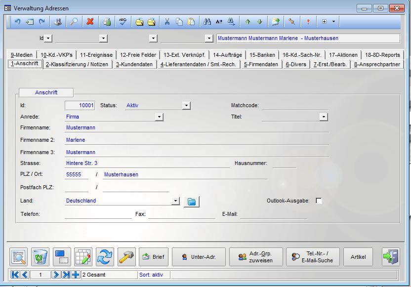 Datenblatt bei AllInOne-Office