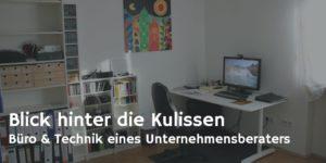 Büro und Technik eines Unternehmensberaters