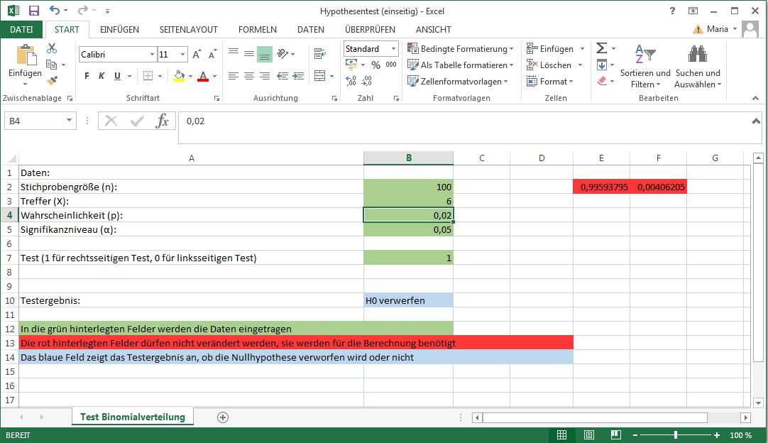Hypothesentest einfach mit unserer Excel-Vorlage