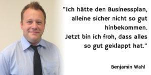 Benjamin Wahl - Gründen mit Businessplan