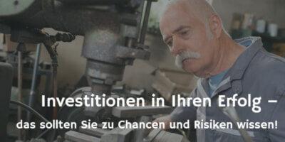 Investitionen prüfen fotolia.com© auremar (Titelbild)