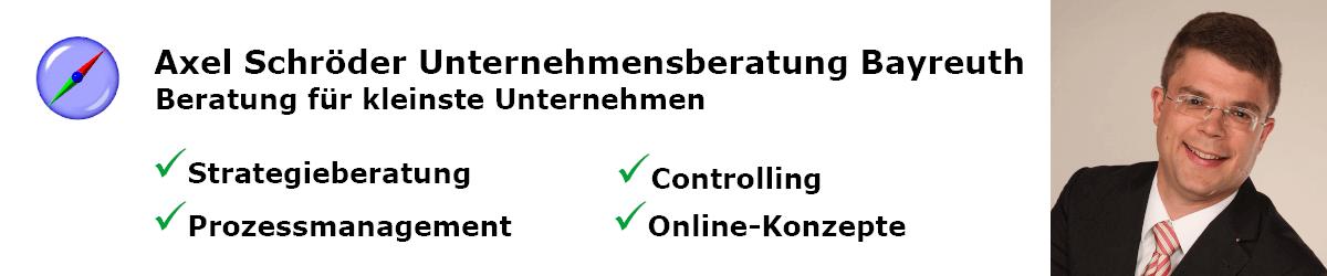 Axel Schröder Unternehmensberatung Bayreuth header image