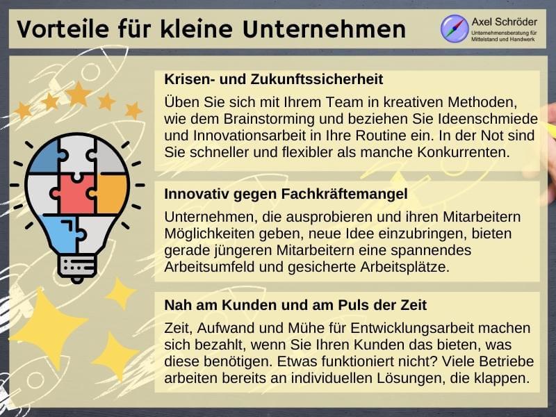 Vorteile innovativer Unternehmen