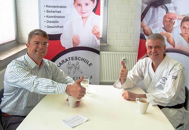 Digitalisierung praktisch gestalten: Schröder fragt nach Freddy Plewe Okinawa Karateschule