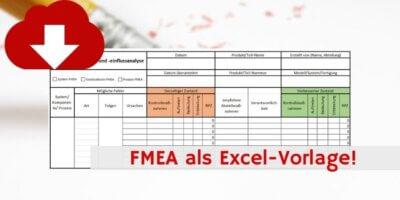 FMEA als Excel Downloadvorlage