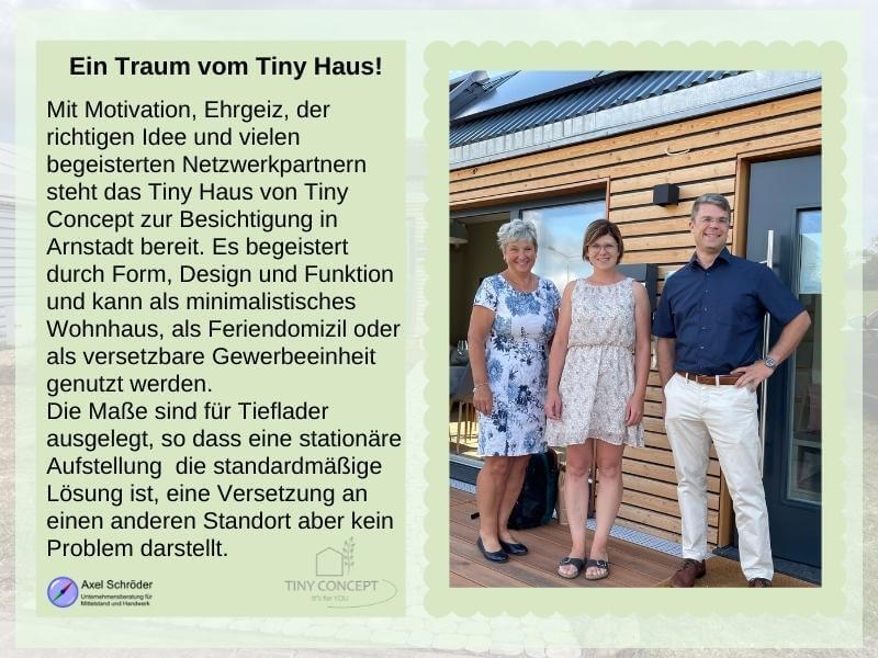 Lisa Gehlau und Tiny Concept mit Gründer-Story in der Gründungsberatung