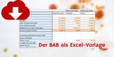 BAB Excel-Vorlage Downloadvorschau