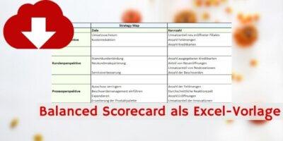 Balanced Scorecard Excelvorlage Downloadvorschau