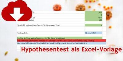 Hypothesentest Downloadvorschau