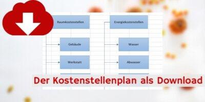 Kostenstellenplan Excelvorlage Downloadvorschau