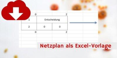 Netzplan Excel-Vorlage Downloadvorschau