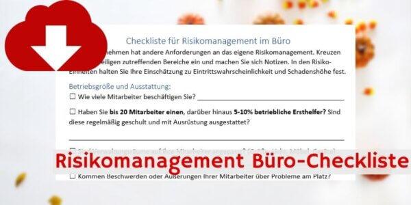 Risikomanagement Büro-Checkliste Downloadvorschau